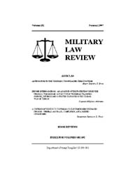 Military Law Review : Summer 2007 ; Volu... by Department of the Army, Headquarters