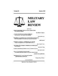 Military Law Review : Summer 2010 ; Volu... by Department of the Army, Headquarters