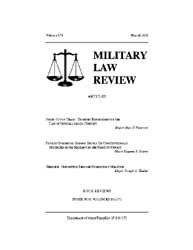 Military Law Review : March 2002 ; Volum... by Department of the Army, Headquarters