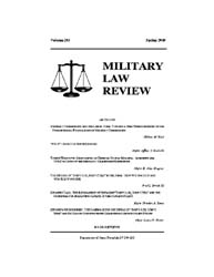 Military Law Review : Spring 2010 ; Volu... by Department of the Army, Headquarters