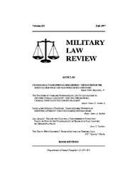 Military Law Review : Fall 2007 ; Volume... by Department of the Army, Headquarters