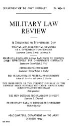 Military Law Review : October 1962 ; Vol... by Department of the Army, Headquarters