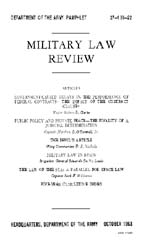 Military Law Review : October 1963 ; Vol... by Department of the Army, Headquarters