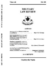Military Law Review : October 1993 ; Vol... by Department of the Army, Headquarters
