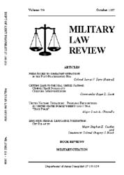 Military Law Review : October 1997 ; Vol... by Department of the Army, Headquarters