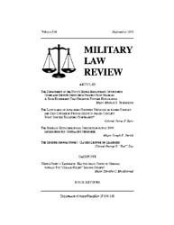 Military Law Review : September 2001 ; V... by Department of the Army, Headquarters