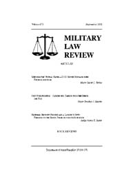 Military Law Review : September 2002 ; V... by Department of the Army, Headquarters