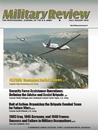 Miltary Review : July-August 2010 Volume July-August 2010 by Smith, John J.