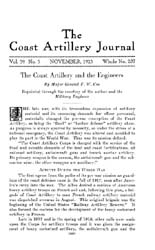 Coast Artillery Journal; November 1923 Volume 59, Issue 5 by Clark, F. S.