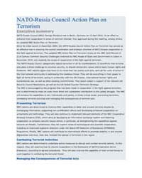 NATO-Russia Council Action Plan on Terro... by North Atlantic Treaty Organization