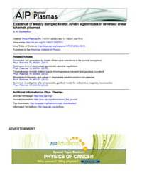 Physics of Plasmas : Existence of weakly... Volume Issue : November 2008 by N. N. Gorelenkov