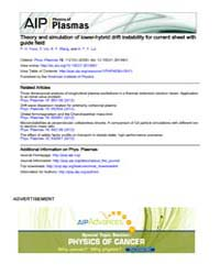Physics of Plasmas : Theory and simulati... Volume Issue : November 2008 by P. H. Yoon, Y. Lin, X. Y. Wang, and A. T. Y. Lui