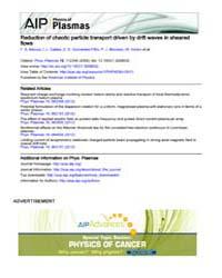 Physics of Plasmas : Reduction of chaoti... Volume Issue : November 2008 by F. A. Marcus, I. L. Caldas, Z. O. Guimarães-Filho,...