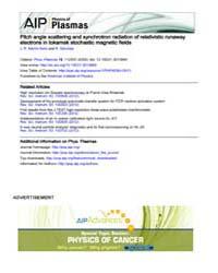 Physics of Plasmas : Pitch angle scatter... Volume Issue : November 2008 by J. R. Martín-Solís and R. Sánchez