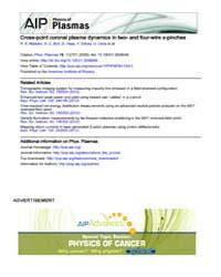 Physics of Plasmas : Cross-point coronal... Volume Issue : November 2008 by R. E. Madden, S. C. Bott, D. Haas, Y. Eshaq, U. Ue...