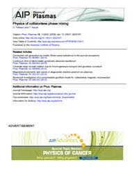 Physics of Plasmas : Physics of collisio... Volume Issue : November 2008 by D. Tsiklauri and T. Haruki