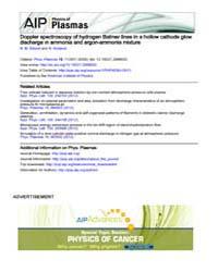 Physics of Plasmas : Doppler spectroscop... Volume Issue : November 2008 by N. M. Šišovic and N. Konjevic