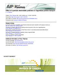 Physics of Plasmas : Effect of a periodi... Volume Issue : November 2008 by C. A. Ordonez
