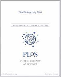 Monthly Biology Journal : Plos Biology J... Volume 2 by Bloom, Theodora