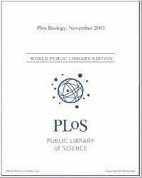 Monthly Biology Journal : Plos Biology N... Volume 1 by Bloom, Theodora