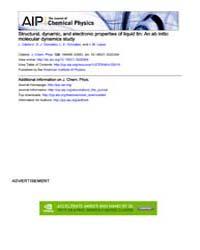 The Journal of Chemical Physics : Struct... Volume Issue : November 2008 by L. Calderín, D. J. González, L. E. González, and J...