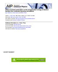 The Journal of Chemical Physics : Effect... Volume Issue : November 2008 by Egor Vladimirov, Anela Ivanova, and Notker Rösch