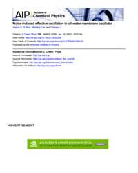 The Journal of Chemical Physics : Noise-... Volume Issue : November 2008 by Yaping Li, Yi Xing, Weiliang Cao, and Qianshu Li