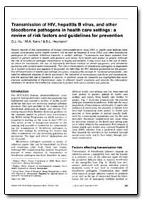 Bulletin of the World Health Organizatio... by D. J. Hu