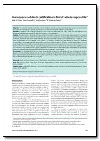 Bulletin of the World Health Organizatio... by Abla M. Sibai