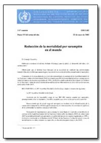 Executive Board : 2003, Document, No. Eb... by World Health Organization