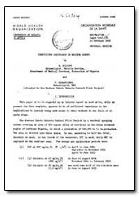 Health Organisation, Malaria Comission; ... by R. Elliott
