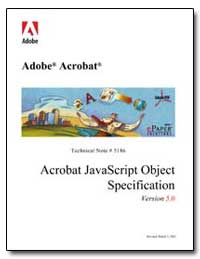 Acrobat Javascript Object Specification by Adobe Systems