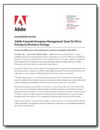 Adobe Expands European Management Team t... by Adobe Systems