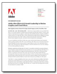 Adobe after Effects 6. 0 Extends Leaders... by Adobe Systems