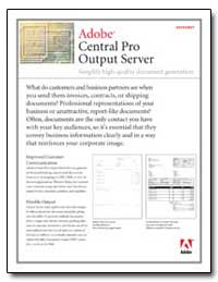 Central Prooutput Server Simplify High-Q... by Adobe Systems