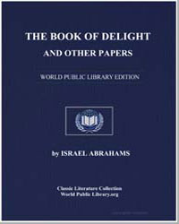 The Book of Delight and Other Papers by Abrahams, Israel
