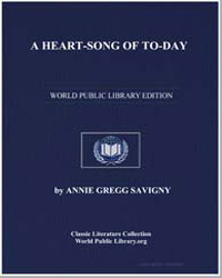 A Heart'Song of Today by Savigny, Annie Gregg
