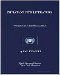Initiation into Literature by Faguet, Emile