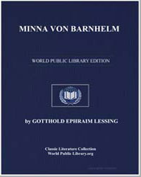 Minna Von Barnhelm by Lessing, Gotthold Ephraim