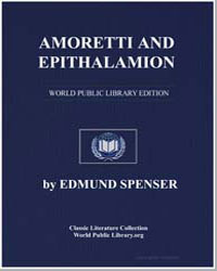 Amoretti and Epithalamion by Spenser, Edmund