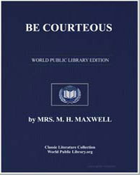 Be Courteous by Maxwell, M. H.