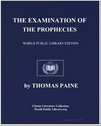 The Examination of the Prophecies by Paine, Thomas