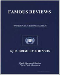 Famous Reviews by Johnson, R. Brimley