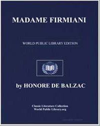 Madame Firmiani by De Balzac, Honore