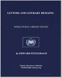 Letters and Literary Remains by Fitzgerald, Edward