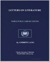 Letters on Literature by Lang, Andrew, M. A.