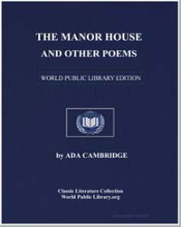 The Manor House and Other Poems by Cambridge, Ada