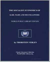 The Socialist Economics of Karl Marx and... by Veblen, Thorstein