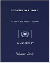 Memoirs of Europe by Manley