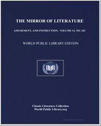 The Mirror of Literature, Amusement, And... by Hutchinson, Joshua